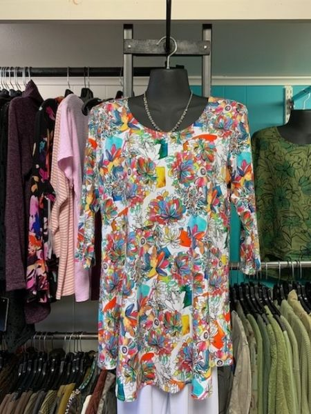 lively print women's top available at Herlihy's women's clothing boutique